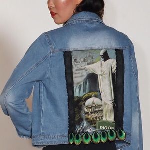 Rio jean jacket brand new one of a kind size M